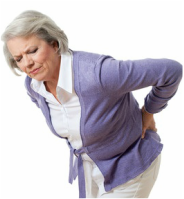 Picture of woman suffering sciatic like pain